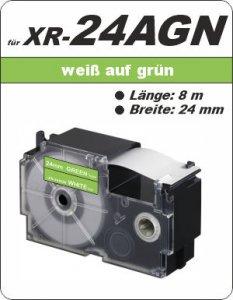 weiß auf grün - ( 24 mm)