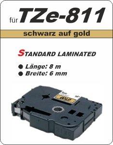 schwarz auf gold - 100% TZe-811 (6 mm) komp.
