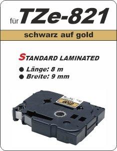 schwarz auf gold - 100% TZe-821 (9 mm) komp.