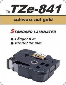 schwarz auf gold - 100% TZe-841 (18 mm) komp.