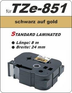 schwarz auf gold - 100% TZe-851 (24 mm) komp.