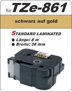 schwarz auf gold - 100% TZe-861 (36 mm) komp.