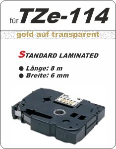 gold auf transparent - 100% TZe-114 (6 mm) komp.