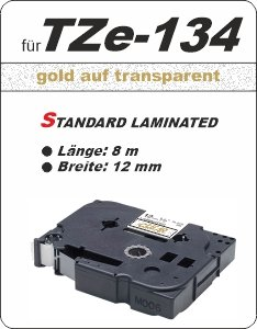 gold auf transparent - 100% TZe-134 (12 mm) komp.