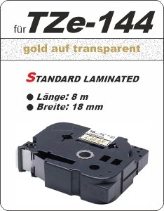 gold auf transparent - 100% TZe-144 (18 mm) komp.