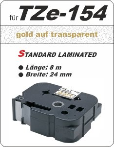 gold auf transparent - 100% TZe-154 (24 mm) komp.