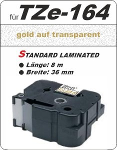 gold auf transparent - 100% TZe-164 (36 mm) komp.