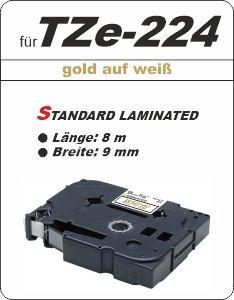 gold auf weiß - 100% TZe-224 (9 mm) komp.