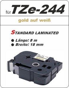 gold auf weiß - 100% TZe-244 (18 mm) komp.