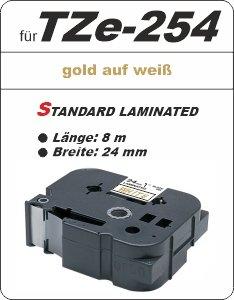 gold auf weiß - 100% TZe-254 (24 mm) komp.