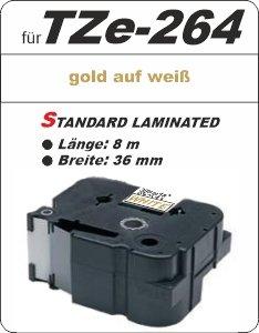 gold auf weiß - 100% TZe-264 (36 mm) komp.
