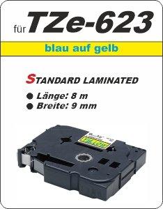 blau auf gelb - 100% TZe-623 (9 mm) komp.