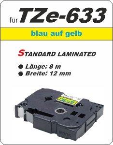 blau auf gelb - 100% TZe-633 (12 mm) komp.
