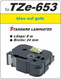 blau auf gelb - 100% TZe-653 (24 mm) komp.
