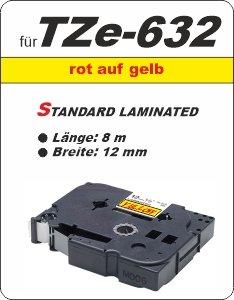 rot auf gelb - 100% TZe-632 (12 mm) komp.