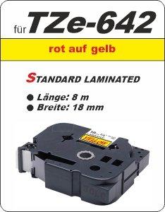 rot auf gelb - 100% TZe-642 (18 mm) komp.