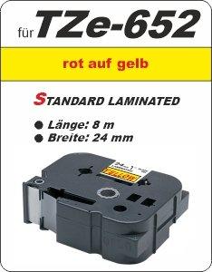 rot auf gelb - 100% TZe-652 (24 mm) komp.