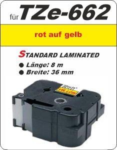 rot auf gelb - 100% TZe-662 (36 mm) komp.