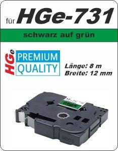 schwarz auf grün - 100% HGe-731 (12 mm) komp.