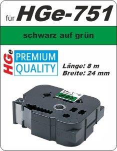 schwarz auf grün - 100% HGe-751 (24 mm) komp.