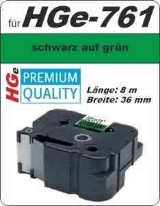schwarz auf grün - 100% HGe-761 (36 mm) komp.