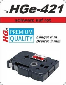 schwarz auf rot - 100% HGe-421 (9 mm) komp.