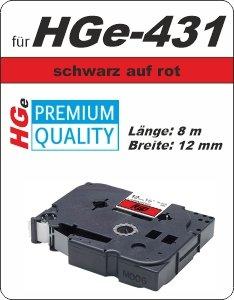 schwarz auf rot - 100% HGe-431 (12 mm) komp.