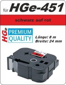 schwarz auf rot - 100% HGe-451 (24 mm) komp.