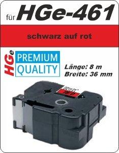 schwarz auf rot - 100% HGe-461 (36 mm) komp.