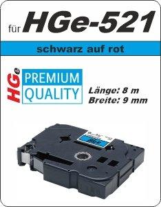 schwarz auf blau - 100% HGe-521 (9 mm) komp.