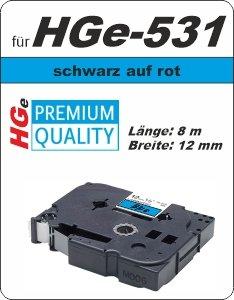 schwarz auf blau - 100% HGe-531 (12 mm) komp.