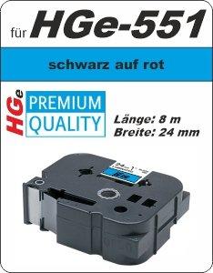 schwarz auf blau - 100% HGe-551 (24 mm) komp.