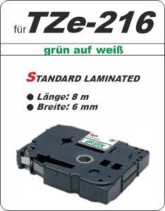 grün auf weiß - 100% TZe-216 (6 mm) komp.