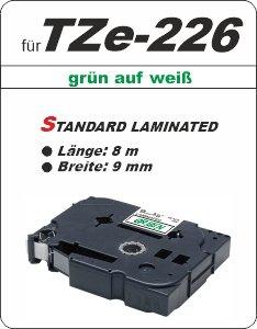 grün auf weiß - 100% TZe-226 (9 mm) komp.