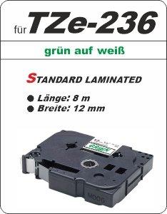 grün auf weiß - 100% TZe-236 (12 mm) komp.