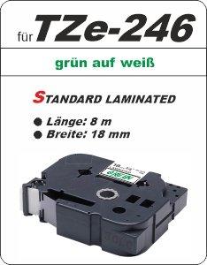 grün auf weiß - 100% TZe-246 (18 mm) komp.