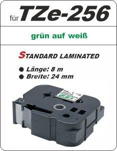 grün auf weiß - 100% TZe-256 (24 mm) komp.