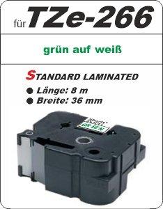 grün auf weiß - 100% TZe-266 (36 mm) komp.