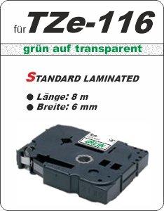 grün auf transparent - 100% TZe-116 (6 mm) komp.