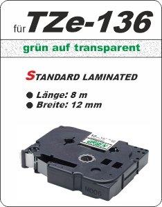grün auf transparent - 100% TZe-136 (12 mm) komp.
