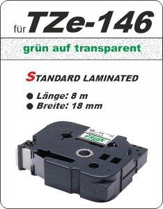 grün auf transparent - 100% TZe-146 (18 mm) komp.