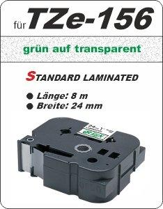 grün auf transparent - 100% TZe-156 (24 mm) komp.