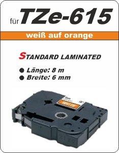 weiß auf orange - 100% TZe-615 (6 mm) komp.