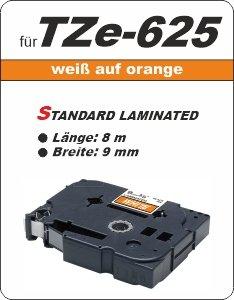 weiß auf orange - 100% TZe-625 (9 mm) komp.