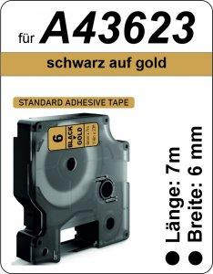 schwarz auf gold - (6 mm)
