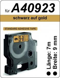 schwarz auf gold - (9 mm)