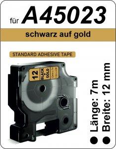 schwarz auf gold - (12 mm)
