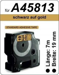schwarz auf gold - (19 mm)