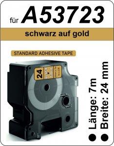 schwarz auf gold - (24 mm)
