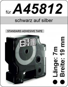 schwarz auf silber - (19 mm)